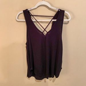 Forever21 Black Strappy Front Tank Top